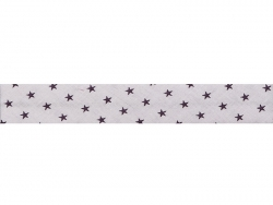 1 m of bias binding (20 mm) with stars - Pale pink (colour no. 306)