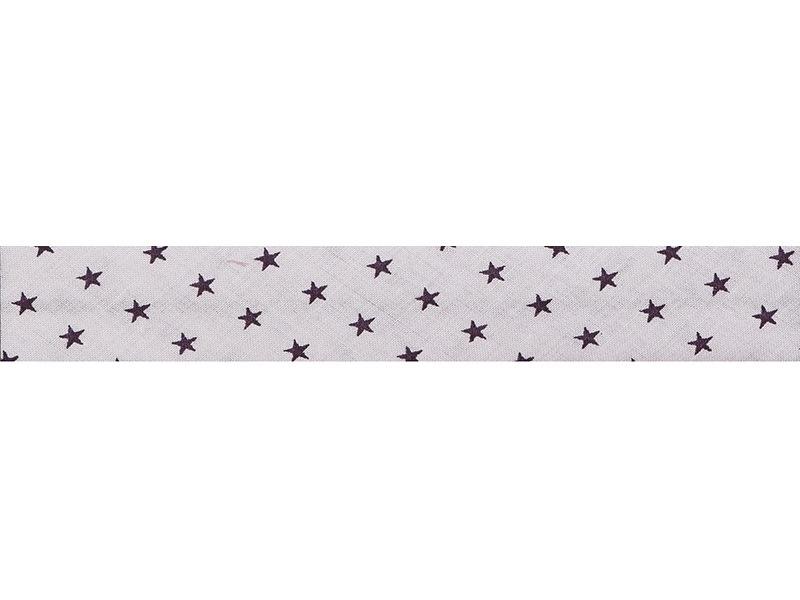 1m biais 20mm étoiles 306 - Rose pâle Frou-Frou - 1