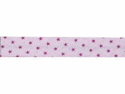 1 m of bias binding (20 mm) with stars - Light pink (colour no. 307)