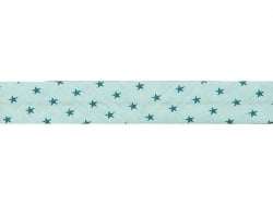 1 m of bias binding (20 mm) with stars - Mint green (colour no. 311)