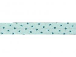 1 m Schrägband mit Sternenmuster (20 mm) - minzgrün (Farbnr. 311)