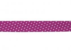 1 m gepunktetes Schrägband (20 mm) - fuchsienrot (Farbnr. 207)