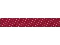 1 m of bias binding (20 mm) with polka dots - Red (colour no. 208)