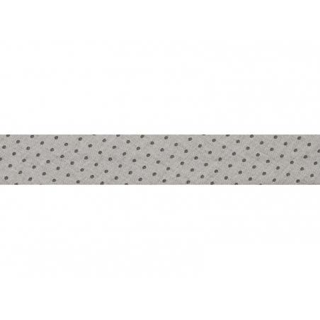 1m biais 20mm à pois 401 - Gris clair Frou-Frou - 1