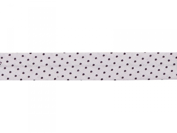 1 m of bias binding (20 mm) with polka dots - Pale pink (colour no. 406)
