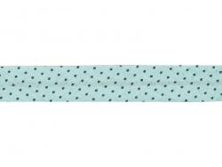 1 m gepunktetes Schrägband (20 mm) - minzgrün (Farbnr. 411)