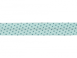 1 m of bias binding (20 mm) with polka dots - Mint green (colour no. 411)