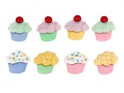 Boutons en plastique - Cupcakes Frou-Frou - 1