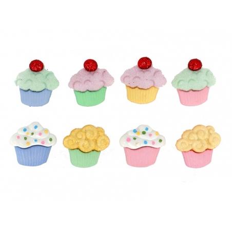 Plastic button - Cupcakes