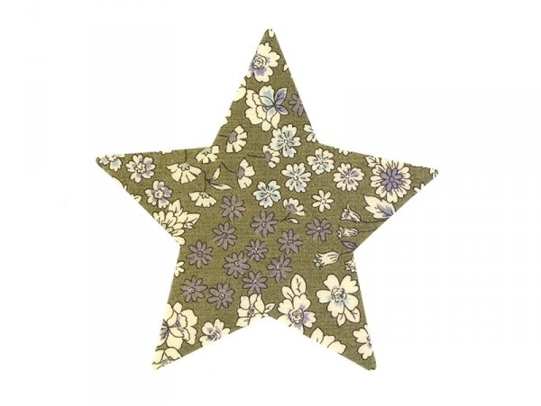 Iron-on patch - floral star - Arthur (3)