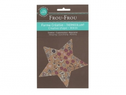 Iron-on patch - floral star - Marie (4)