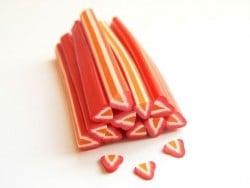 Acheter Cane fraise coeur orange - 0,99€ en ligne sur La Petite Epicerie - 100% Loisirs créatifs