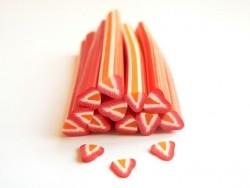 Cane fraise coeur orange