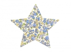 Iron-on patch - floral star - Mathilde (15)