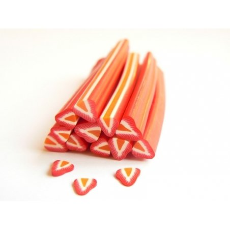 Strawberry cane - with an orange centre