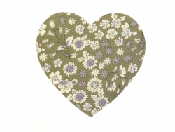 Coeur THERMOCOLLANT fleuri - 3 Arthur