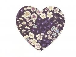 Coeur THERMOCOLLANT fleuri - 8 Léo