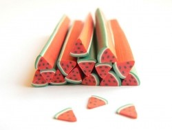 Watermelon cane - quartered