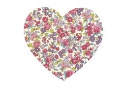 Coeur THERMOCOLLANT fleuri - 13 Lucie
