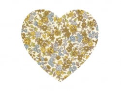 Coeur THERMOCOLLANT fleuri - 17 Margot
