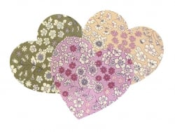 Coeur THERMOCOLLANT fleuri - 17 Margot