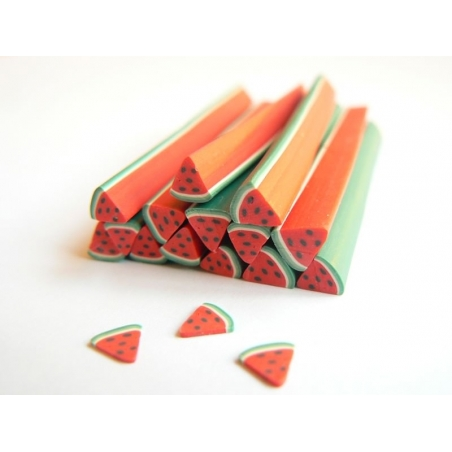Watermelon cane - quartered