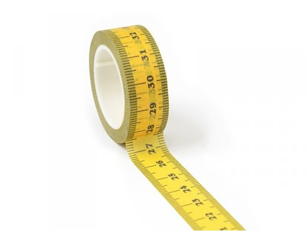 Masking Tape with a pattern - Measuring tape   Rico Design - 1