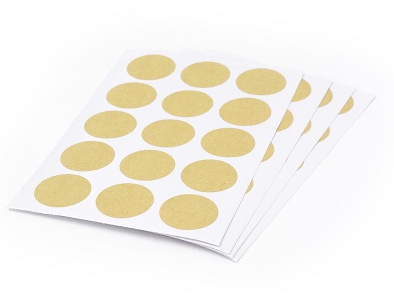 60 round kraft paper stickers - 25 mm