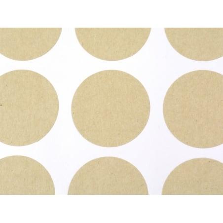 Acheter 60 stickers ronds kraft - 25 mm - 2,70€ en ligne sur La Petite Epicerie - Loisirs créatifs
