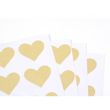 Acheter 60 stickers coeurs kraft - 25 mm - 2,79€ en ligne sur La Petite Epicerie - 100% Loisirs créatifs