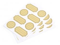 32 kraft paper stickers / tags