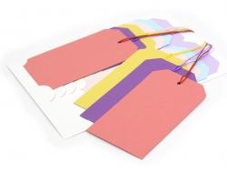 12 attaches / étiquettes cadeaux - multicolore