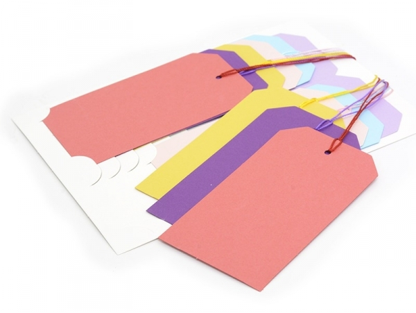 12 tags / gift tags - multi-coloured