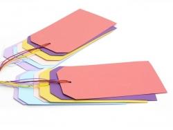 Acheter 12 attaches / étiquettes cadeaux - multicolore - 5,50€ en ligne sur La Petite Epicerie - Loisirs créatifs