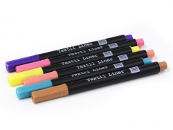 6 fabric markers - fashionable colours