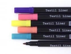 6 feutres pour tissus - couleurs trendy