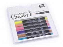 Acheter 6 feutres pour tissus - couleurs trendy - 9,20€ en ligne sur La Petite Epicerie - 100% Loisirs créatifs