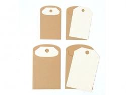 6 Geschenkanhänger mit Umschlägen - aus Kraftpapier