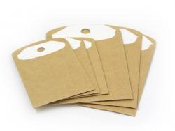6 étiquettes cadeaux et leur enveloppe - kraft