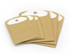6 gift tags and envelopes - made of kraft paper