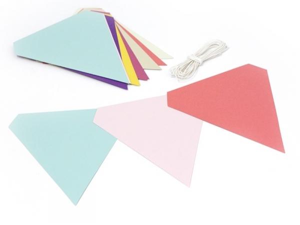 Colourful pennant garland kit - multi-coloured
