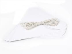 kit guirlande Fanions à customiser - blanc