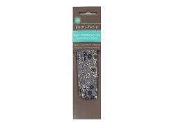 Floral iron-on bias binding (2 m x 20 mm) - Noémie (6) - Frou-Frou