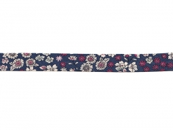 Floral iron-on bias binding (2 m x 20 mm) - Victor (7) - Frou-Frou
