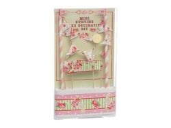 Cake decorating set - pink flowers