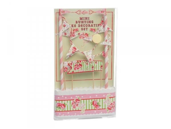 Set de décoration à gâteau - Fleuri rose Dotcomgiftshop - 1