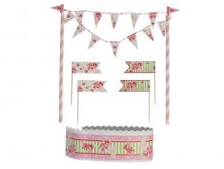 Cake decorating set - pink flowers