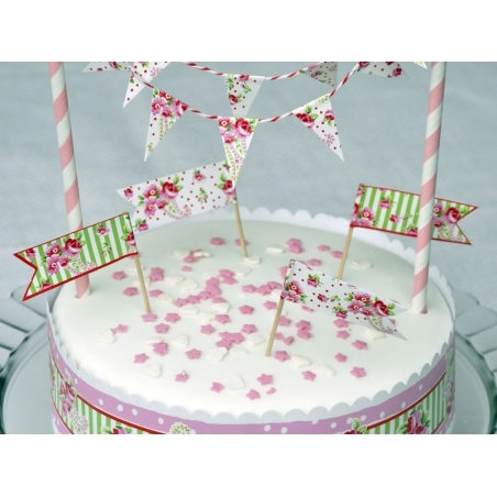 Set de décoration à gâteau - Fleuri rose Dotcomgiftshop - 2