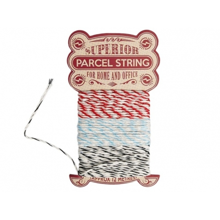 Red, blue and black Baker's Twine - 12 m