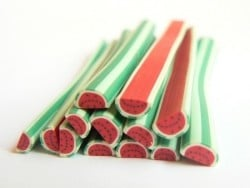 Acheter Cane demi pastèque rayures - 0,99€ en ligne sur La Petite Epicerie - Loisirs créatifs